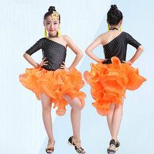 Professional Latin Dance Dress for Girls Ballroom Dance Competition Dresses  Kids Modern Dance Wear Salsa Cha Cha Rumba Costume 9 dc447641695c