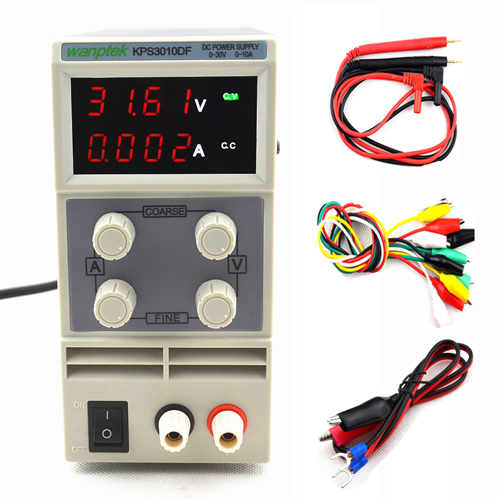 4 Digits Display KPS3010DF 0-30V/0-10A 110V-230V 0.01V/0.001A LED Mini Digital Adjustable Switch DC Power Supply EU/AU/US plug4 Digits Display KPS3010DF 0-30V/0-10A 110V-230V 0.01V/0.001A LED Mini Digital Adjustable Switch DC Power Supply EU/AU/US plug