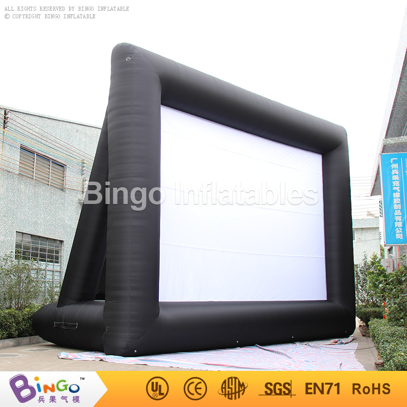 Free Express 9.1m long 6.1M high Inflatable Movie Theater Screen High Quality oxford nylon cloth for sale toy tent free shipping 3m inflatable ice cream with blower hot sale inflatable oxford nylon cloth model for inflatable toys