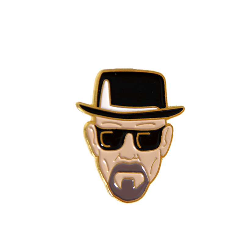 Movie Breaking Bad Brooch Walter White Cool Enamel figure Pins and Brooches for Women Men Lapel Pin Backpack Bags Badge Gifts image