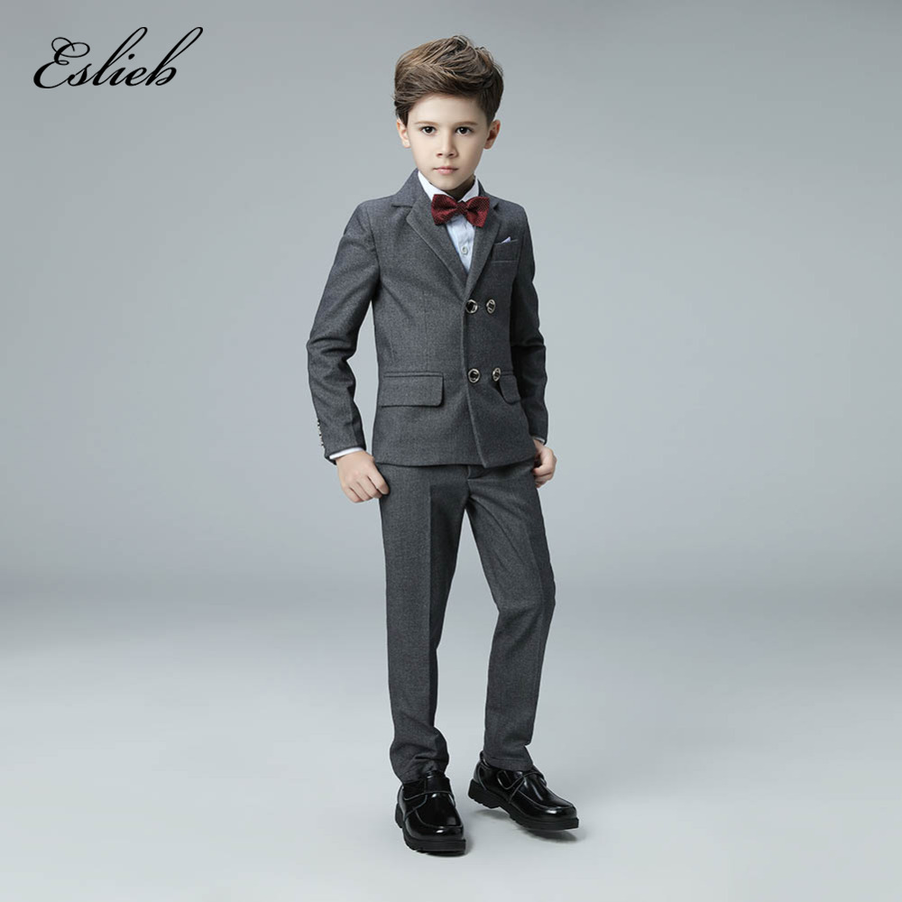 3 Piece Boys Suits for Weddings New Arrival Plaid Boys Wedding Suit ...