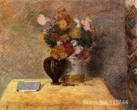 Paintings by Paul Gauguin Flowers and Japanese Book Hand painted oil painting canvas High quality