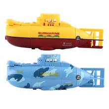 2Colors Remote Control Submarine Rechargeable RC Toy Model Diving Boat with RC Water Motor RC Submarine Toy for Baby Kids(China)