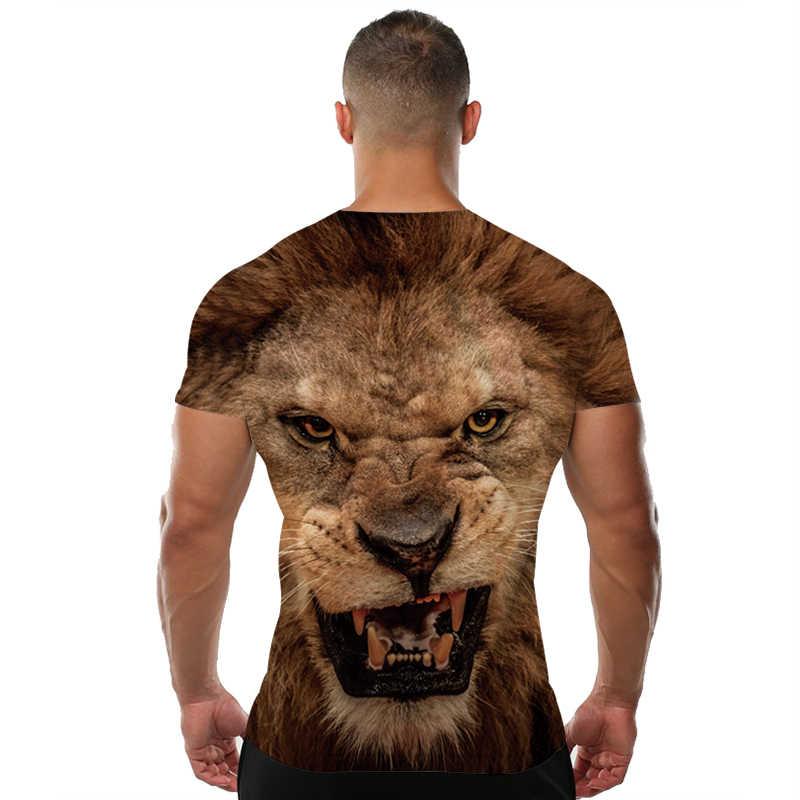 Kyku Merk 3d T-shirt Dier Leeuw Shirt Camiseta 3d T-shirt Mannen Grappige T-shirts Heren Kleding Casual Fitness Teetop tijger Tshirt