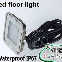 DC12v ультратонкий светодиодный напольный светильник, встраиваемый ступенчатый светильник, уличный садовый светильник