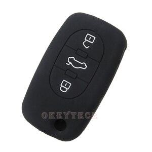 Image 4 - OkeyTech étui de protection pour clé de voiture, en silicone, de réparation à distance pliable, pour Audi A2 A3 A4 A6 A8 TT, coque de protection, nouvelle peau