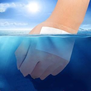 Image 4 - 10 adet 6X10 cm Su Geçirmez Yara Pansuman Bant Yardım Tıbbi Şeffaf Steril Bant Nefes Göbek Yapıştır Banyo bant yardımcıları Bandaj