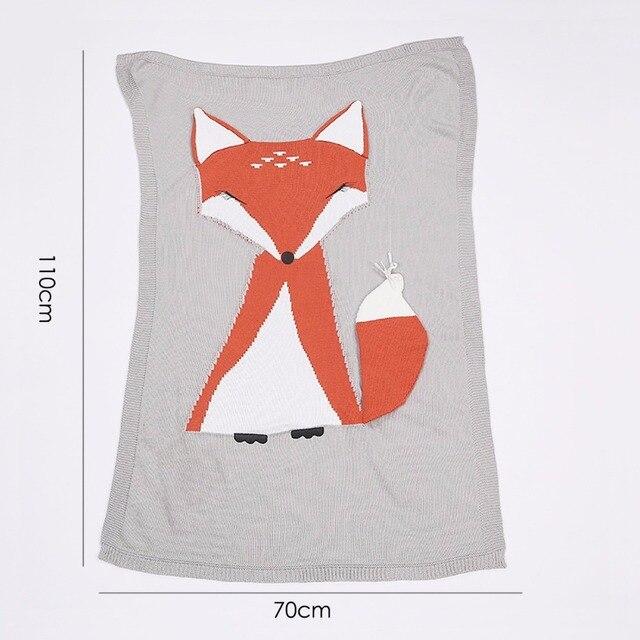 Recién Nacido swaddle manta de punto crochet Fox animal suave bebé ...