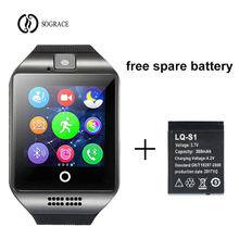 Купить с кэшбэком Children Bluetooth Smart Watch Q18 With Touch Screen Big Battery Support TF Sim Card Camera for Android Phone Smartwatch Newest