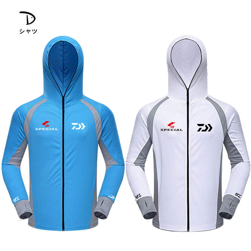 DAIWA Summer Breathable Fishing Shirt Hooded Special Top Quality Sports Cycling Golf Men Sun Protection Jackets Fishing ShirtsDAIWA Summer Breathable Fishing Shirt Hooded Special Top Quality Sports Cycling Golf Men Sun Protection Jackets Fishing Shirts