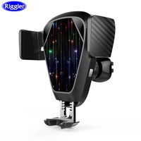 Auto Clamp Wireless Car Charger Riggler Light Sensor Charging Mount for Iphone XS MAX XR X 8 Plus Air Vent Sucker Holder Stand