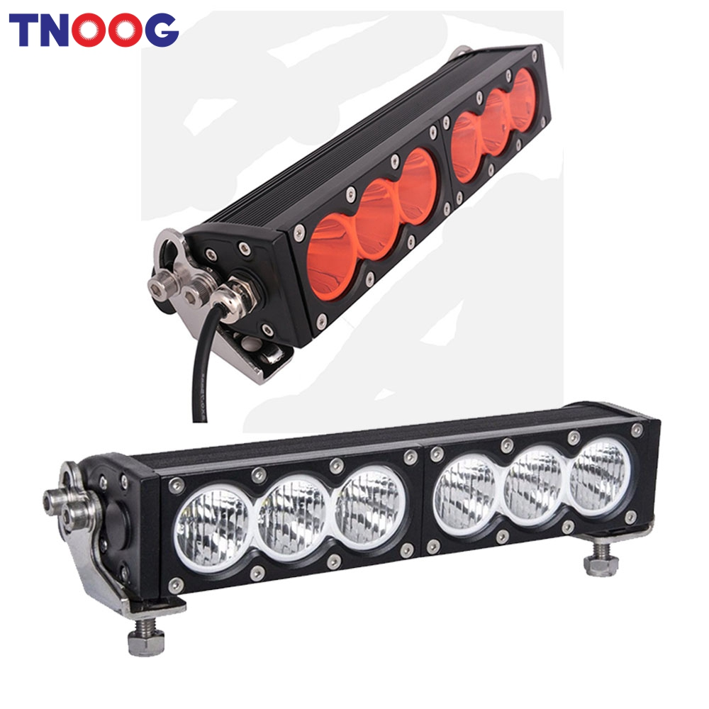 Us 60 72 12 Off Tnoog 60w White Amber Yellow Led Light Bar 12volt Worklight 4x4 Offroad Work Driving Lights Car Atv Spot Flood Lamps In