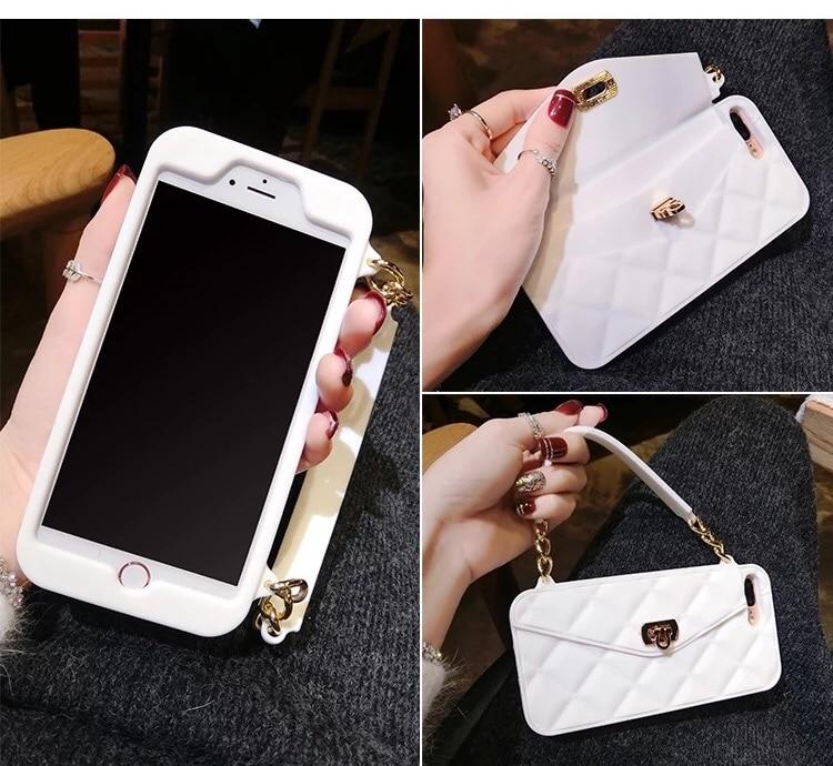 3D Purse Handbag Ponsel Lembut Silicone Kembali Kasus Cover Kulit - Aksesori dan suku cadang ponsel - Foto 5