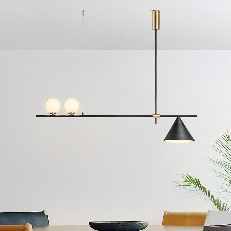 Дизайнерские железные подвесные светильники в скандинавском стиле, современный простой домашний декор, подвесной светильник для ресторан