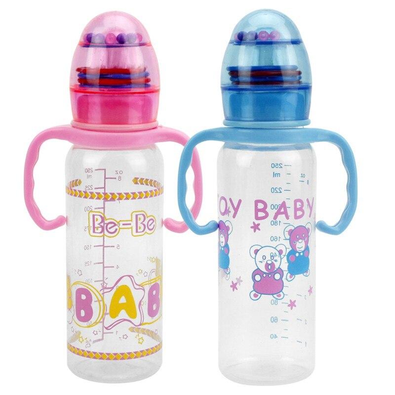 250ml Cute Baby bottle Infant Newborn Children Learn ...