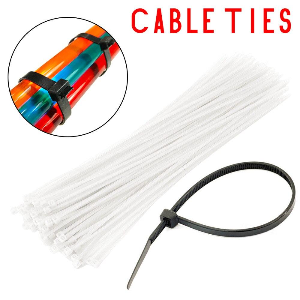 Self Locking Nylon Cable Ties 100pcs Plastic Zip Tie 18