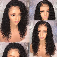 Brazilian Gluueless Lace Front Human Hair Wigs Deep Curly Wigs With Baby Hair For Black Women Pre Plucked Natural Hairline Favor