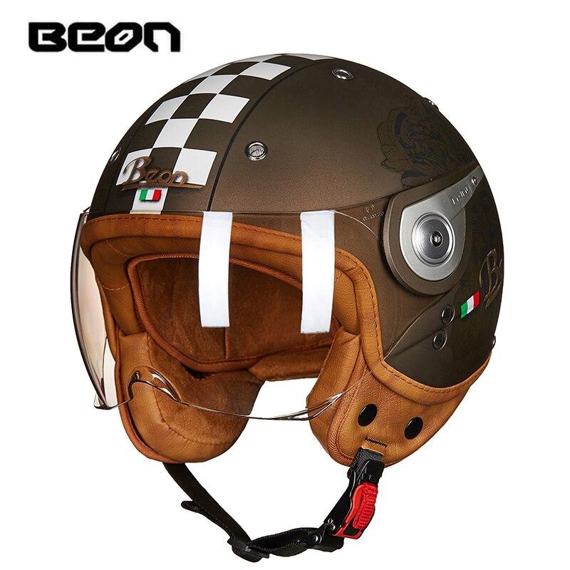 Мотоциклетный шлем Beon vespa casco capacete, с открытым лицом|Шлемы|   | АлиЭкспресс