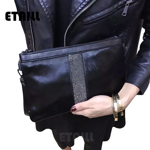 Geometric Diamond Horsehair Evening Clutch Bags with Crystals Women Small Soft Genuine Real Leather Hand Bag Crossbody Woman Bag