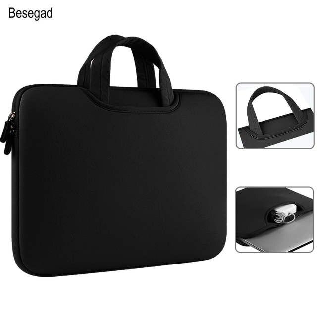 f8c62bd2bd8f0 Besegad Maleta Bolsa Laptop Sleeve Bolsa Case Capa Bolsa para Apple MacBook  Mac Book Pro Ar