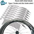 ROVAL CLX64 наклейки на колеса для дорожного велосипеда ROVAL CLX64 наклейки на колеса для дорожного велосипеда нож из углеродной стали групповые нак...