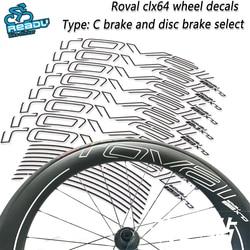 ROVAL CLX64 drogowe naklejki na koło rowerowe ROVAL CLX64 naklejki na koła szosowe węgla nóż koła koła grupa naklejki kalkomanie