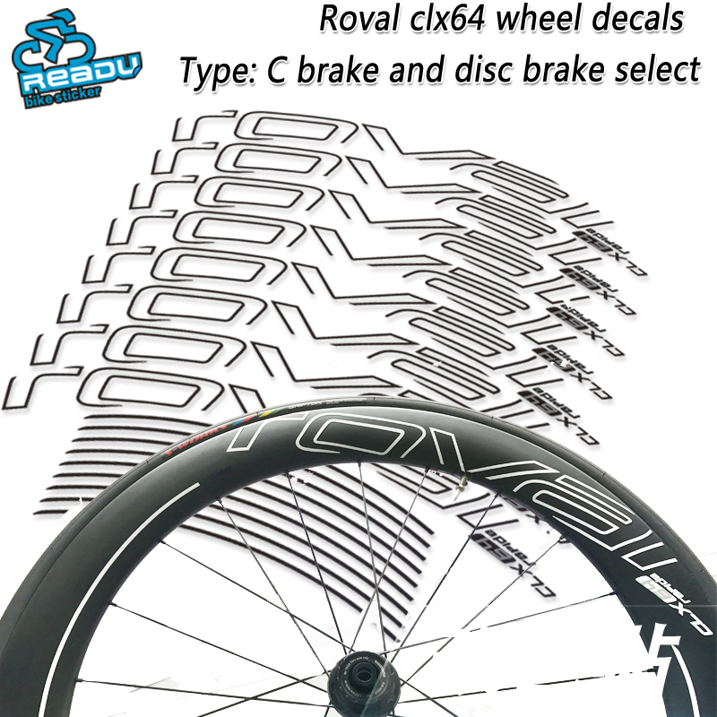 ROVAL CLX64 road bicycle wheel stickers ROVAL CLX64 wheel decals Road bike carbon knife wheel wheel group stickers decals wheel