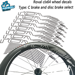 ROVAL CLX64 road bicycle wheel stickers ROVAL CLX64  wheel decals Road bike carbon knife wheel wheel group stickers  decals