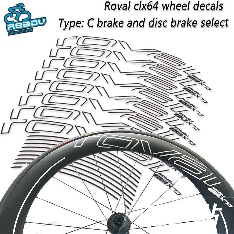 ROVAL CLX64 route vélo roue autocollants ROVAL CLX64 roue décalcomanies vélo de route carbone couteau roue roue groupe autocollants décalcomanies