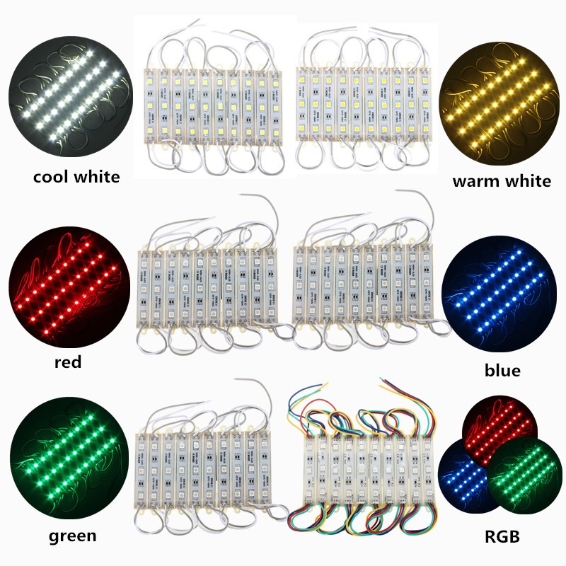 10PCS/Lot 30LED DC12V 5050 SMD LED Module Strip String Light Multi-Colors Outdoor Waterproof Light Strip IP68