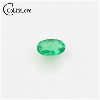 3mm * 5mm 100 naturalny szmaragd kamienie szlachetne luzem prawdziwe SI klasy szmaragd kamień dla biżuterii DIY tanie i dobre opinie Grzywny green Emerald CoLifeLove