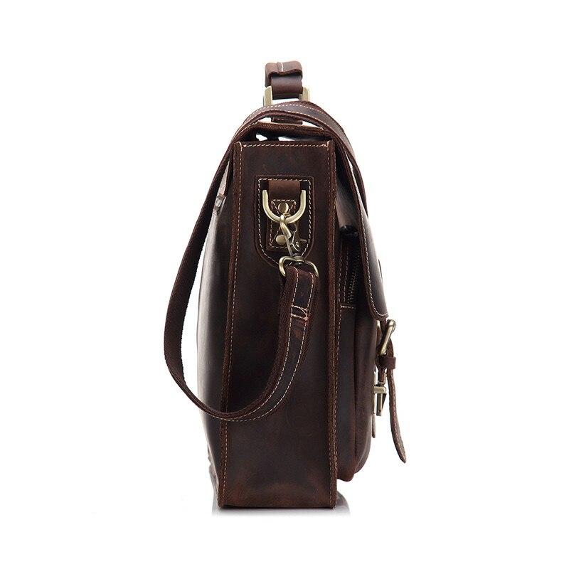 24f1921d826f3 Messenger Schulter Crazy Bags Männer Büro 14 Nesitu M9006 Taschen Vintage  Dicken Horse Tasche Aktentasche   laptop Leder Portfolio AqxU8Rw4