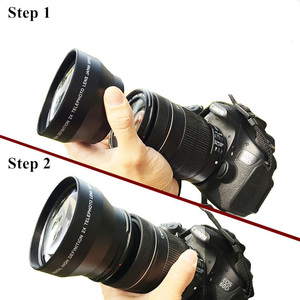 Image 5 - Объектив для камеры 0,45x37 43 46 49 52 мм, широкоугольный объектив с макрообъективом HD, оптические линзы для Canon, Nikon, Sony, Fuji, аксессуары для объектива камеры