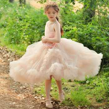 Cloud Flower Girls Dress Sleeveless Birthday Ball Gown Princess Dress Girl Dresses Tulle Applique Party Vestidos Princess AA211 - DISCOUNT ITEM  15% OFF All Category