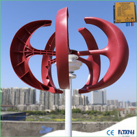 Cheap wind turbine 400W Vertical Axis Wind Turbine with wind solar 12v 24v AUTO MPPT controller for home use
