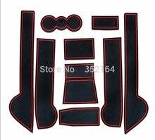 Auto anti-slip cup holder mat non slip door gate pad for skoda yeti 2013 2014 2015, car styling