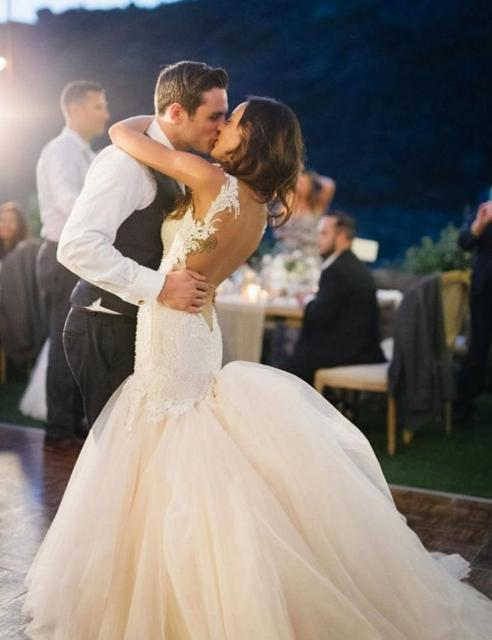 Low Back Mermaid Lace Wedding Dresses 2017 Y White Long Train Liqued Gowns Bridal