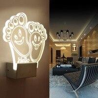 Nowoczesne Żelazko Akrylowe Crystal LED Kinkiety Oświetlenie Lampy Światła Korytarz Światła Kryty Stylowe Romantyczny Dekoracji Domu IY121698