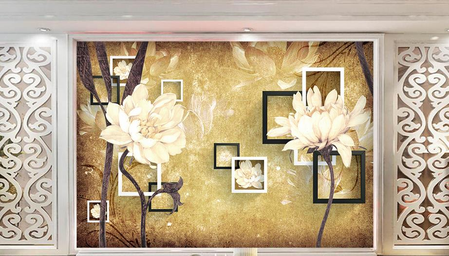 Oil painting retro 3d mural wallpaper European style 3D stereoscopic Flowers living room TV backdrop bedroom photo wallpaper large custom 3d wallpaper mural 3d wallpaper 3d stereoscopic rose pink flowers living room bedroom tv backdrop box