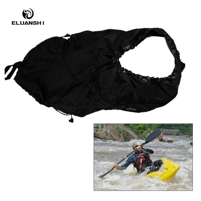 2017 Black Skirt Cover Kayak accessories Deck Whitewater rafting Drift rowing Universal canoe water sports boat island marine
