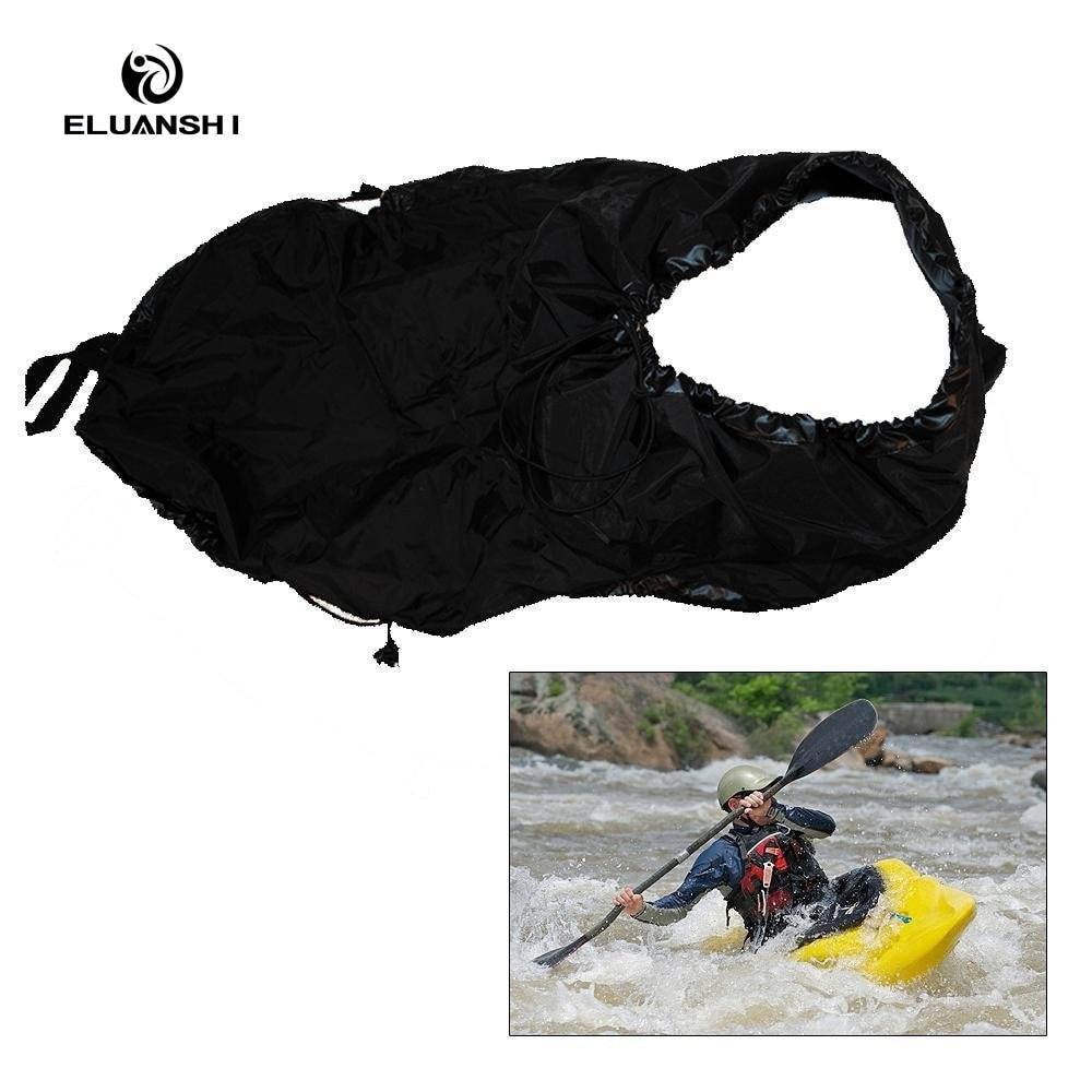 2017 noir jupe couverture Kayak accessoires pont en eau vive rafting dérive aviron universel canoë sports nautiques bateau île marine