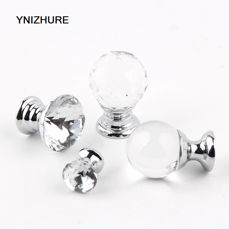 10PCS 17mm/20mm Transparent Crystal Glass MINI Small Handle Furniture Jewelry Box Knob Drawer Cabinets Furniture Kitchen стоимость