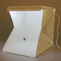 1 Pcs Mini Folding Detachable Photo Studio Portable LED Light Room Photography Studio With White Black