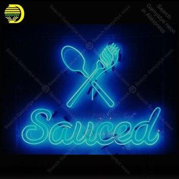 Lampu Neon Tanda-tanda Sauced Hotel Neon Bohlam Sign Kerajinan Kamar Tidur Pub Tampilan Bisnis Neon Letrero Neons Enseigne Lumine