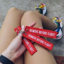 CLELO 3PCS Backpack Pendant With Remove Before Flight Key Chains Aviation Gifts Key For Tag Women Bag Ornament bts acessorios