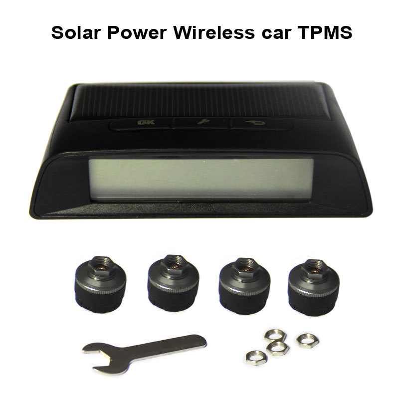 Solar Power Monitoring System : Solar power wireless tire pressure and temperature