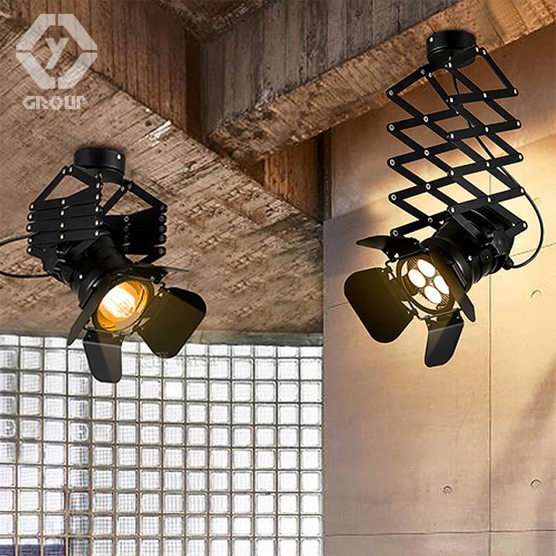 OYGROUP Retro Loft Dehnbar Deckenleuchte Einstellbar Wohnzimmer Pub Bhne Club Cafe Hebe Lampe OY16C04A
