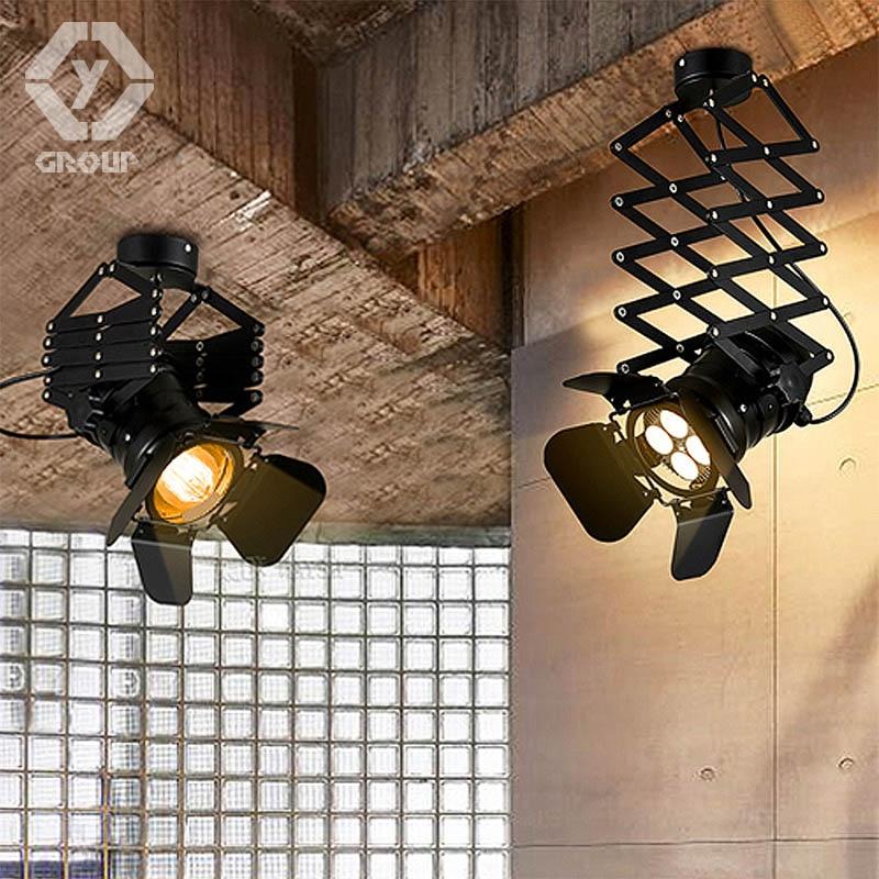 OYGROUP Ռետրո ձեղնափոր ձգվող առաստաղի լույսի կարգավորելի հյուրասենյակի փաբ բեմի ակումբի սրճարան բարձրացնող լամպ # OY16C04A