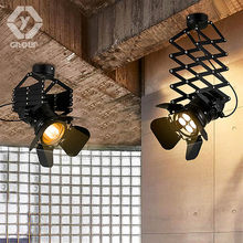 OYGROUP Retro loft stretchable ceiling light adjustable living room pub stage club cafe lifting lamp # OY16C04A(China)