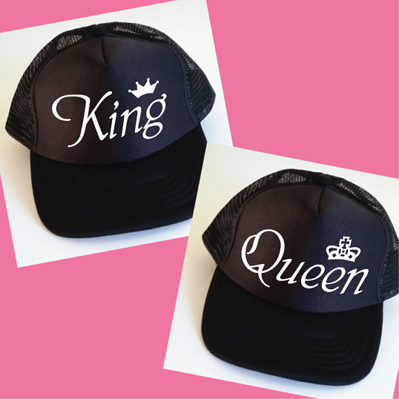 5049cfe2827 customize King and Queen wedding Newlywed Honeymoon hats MRS and MR Mesh  Trucker Snapback trucker caps party favors decoration -in Party DIY  Decorations ...